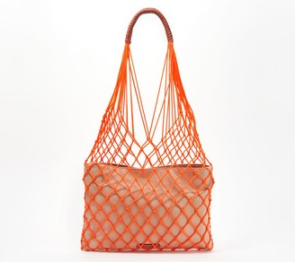 Vince Camuto Rope and Canvas Tote Bag - Zest