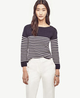 Ann Taylor Striped Wool Cashmere Sweater