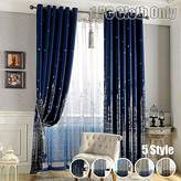 Blackout Curtain Printed Mediterranean Castle Finished Cloth Blind Grommet Top For Living Room Kid's Study Bedroom Kitchen Black Thread Inside Window Treatments, WINYY 1 Panel W40 x H84 inch