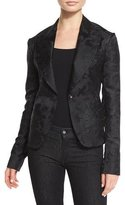 Ralph Lauren Ambrose Brocade One-Button Jacket, Black