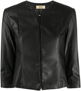 Liu Jo Cropped Faux Leather Jacket