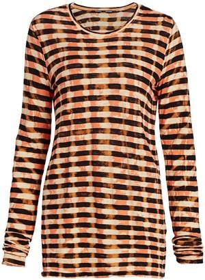 Proenza Schouler Tie-Dye Striped T-Shirt