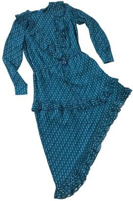 Birgitte Herskind Blue Silk Dress for Women