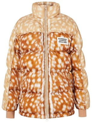 Burberry Deer Print Puffer Jacket