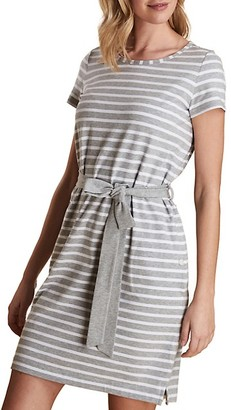 Barbour Striped Belted T-Shirt Dress