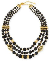Jose & Maria Barrera Black Passementerie Beaded Necklace