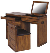 Houseology Collection Trunk Dressing Table With Seat