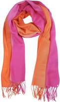 Mila Schon Gradient Fuchsia/Coral Wool and Cashmere Stole