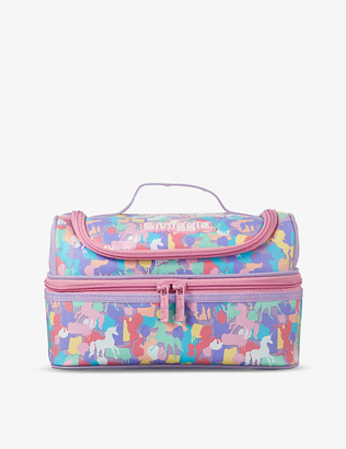 Illusion unicorn-print double-decker lunchbox
