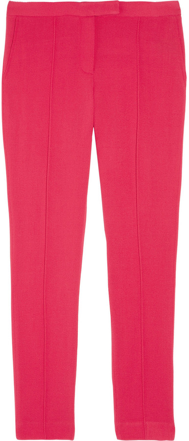 Elizabeth and James Kayden cropped stretch wool-twill skinny pants