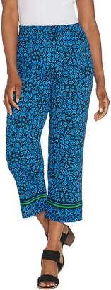 Linea By Louis Dell'olio Linea by Louis Dell'Oio Regular Printed Crop Pull-On Pants