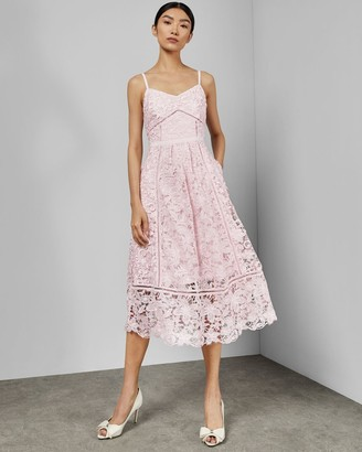 Ted Baker Mixed Lace Midi Dress