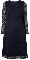 Dorothy Perkins Womens **Dp Curve Navy Lace Long Sleeve Fit And Flare Dress