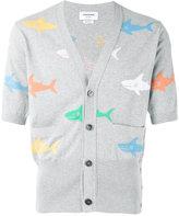 Thom Browne shark-intarsia cardigan - men - Cotton - 1