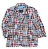 U.S. Polo Assn. Little Boy's & Boy's Plaid Patch Cotton Jacket