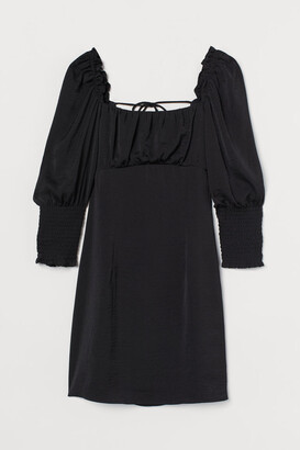H&M Back-laced Dress - Black