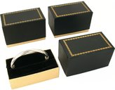 FindingKing 3 Bangle Bracelet Boxes Black & Gold Gift Display Boxes