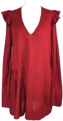 Anthropologie Red Wool Knitwear