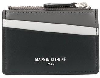 MAISON KITSUNÉ colour block card holder