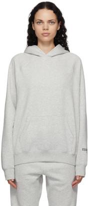 Essentials Grey Fleece Hoodie