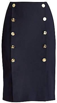Ralph Lauren Women's Ophelie Button Pencil Skirt