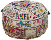 Patchwork Embroidery Pouf