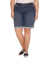 Claiborne Woven Bermuda Shorts-Plus