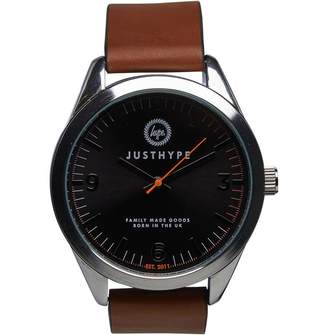 Hype Mens PU Leather Watch Brown