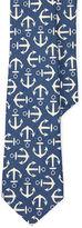 Ralph Lauren 8-20 Anchor-Print Linen Tie