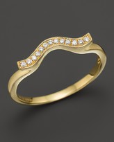 Sylvie Dana Rebecca Designs 14K Yellow Gold and Diamond Rose Wave Ring