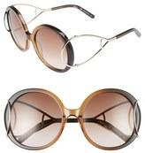 Chloé Women's 'Jackson' 56Mm Round Sunglasses - Antique Rose