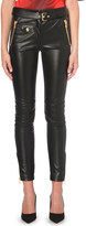 Moschino Skinny faux-leather trousers
