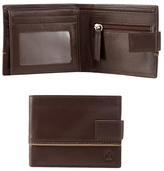 Jeff Banks Dark Brown Leather Piped Wallet
