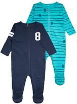 Name It NBMNIGHTSUIT ZIP BABY 2 PACK Pyjamas dress blues