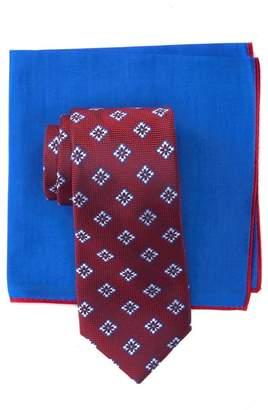 Ted Baker Silk Twisted Medallion Tie & Pocket Square Set