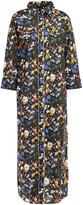 Thumbnail for your product : R 13 Floral-print Cotton-poplin Midi Shirt Dress