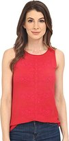 Lucky Brand Women's Paisely Embroidered Tank Top