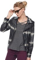 Rock & Republic Women's Tie-Dye Moto Faux-Leather Jacket