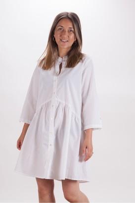 Dream White Wide Dress - Small