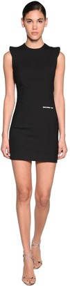 DSQUARED2 Stretch Wool Gabardine Mini Dress