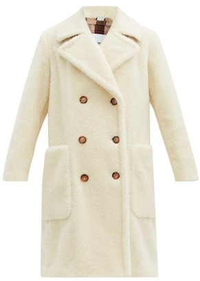 Burberry Selby Double-breasted Wool-blend Fleece Coat - Ivory