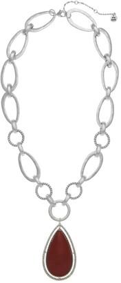 The Sak Red Jasper Teardrop Pendant Necklace