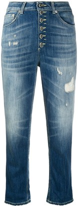 Dondup Stonewashed Cropped Jeans