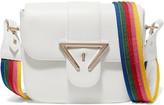 Sara Battaglia Lucy Textured-leather Shoulder Bag - White