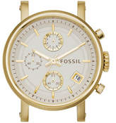 Fossil Boyfriend Chronograph Goldtone Stainless Steel Watch Case
