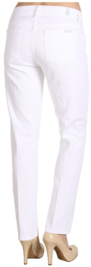 7 For All Mankind Slim Straight in Clean White (Clean White) - Apparel