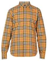 BURBERRY Rainbow house-checked cotton shirt