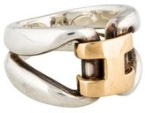 Hermes Two-Tone Pop H Ring