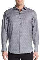 Saks Fifth Avenue Regular-Fit Tile-Print Cotton Sportshirt