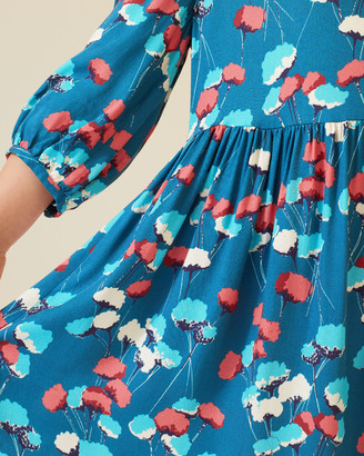 Jigsaw Flower Bud Print Dress